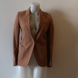 THE KOOPLES TAN WOOL BLEND BLAZER  34 US/XS *